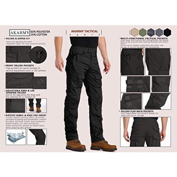 AKARMY Tactical Pant 3 Men's Military Tactical Pants Casual Camouflage Multi-Pocket BDU Cargo Pants Trousers