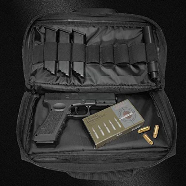 Champlus Pistol Case 3 Pistol Range Bag Tactical Pistol Bag Range Bags for Handguns and Ammo Soft Pistol Case Gun Range Bag for Handguns, Pistols and Ammo Shooting Range Pistol Bag Handgun Magazine Pouch-Black 1 Pack