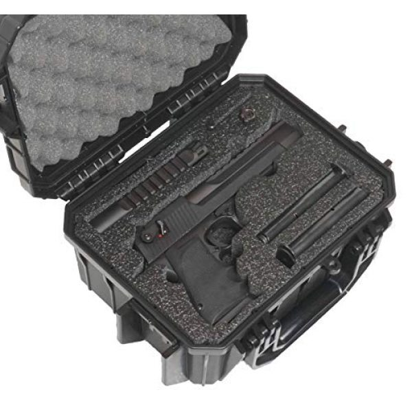 Case Club Pistol Case 1 Case Club Desert Eagle Pre-Cut Waterproof Case with Storage for 4 Extra Magazines & 1 Extra Barrel
