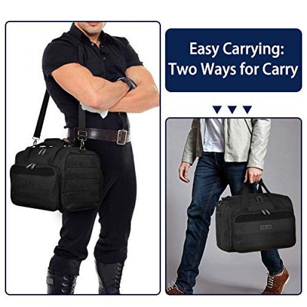 Partage Pistol Case 7 Partage Gun Range Bag Deluxe Pistol Shooting Range Duffle Bags with Velvet Cushion -Black