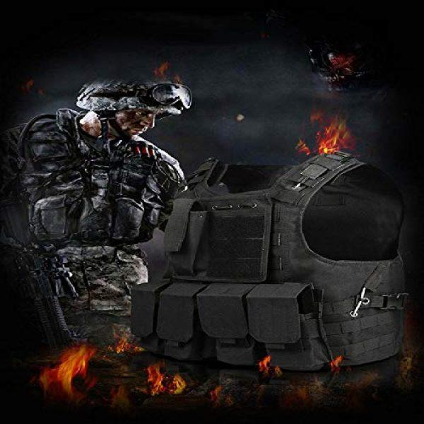 BGJ Airsoft Tactical Vest 6 BGJ Tactical Vest Military Airsoft Assault Molle Vest Outdoor Clothing Hunting Equipment Camouflage Vest Combat Vest