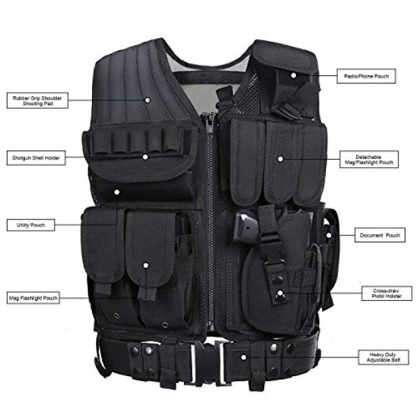 TongBF Airsoft Tactical Vest 3 TongBF Tactical Outdoor Military CS Field Vest Ultra-Light Breathable Combat Training Adjustable Vest