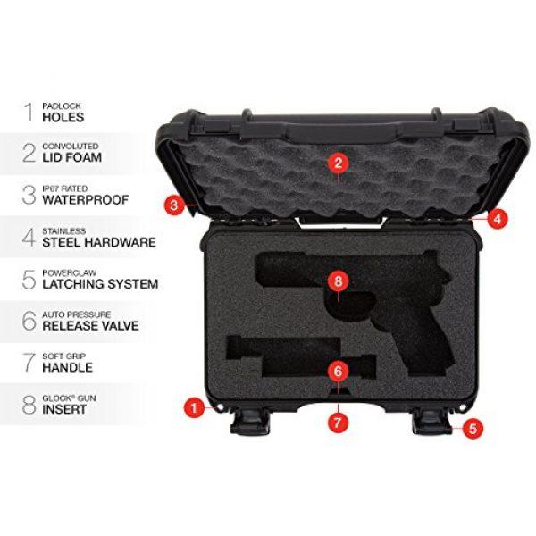 Nanuk Pistol Case 6 Nanuk 909 2UP Waterproof Hard Case w/Custom Foam Insert for Glock Pistols