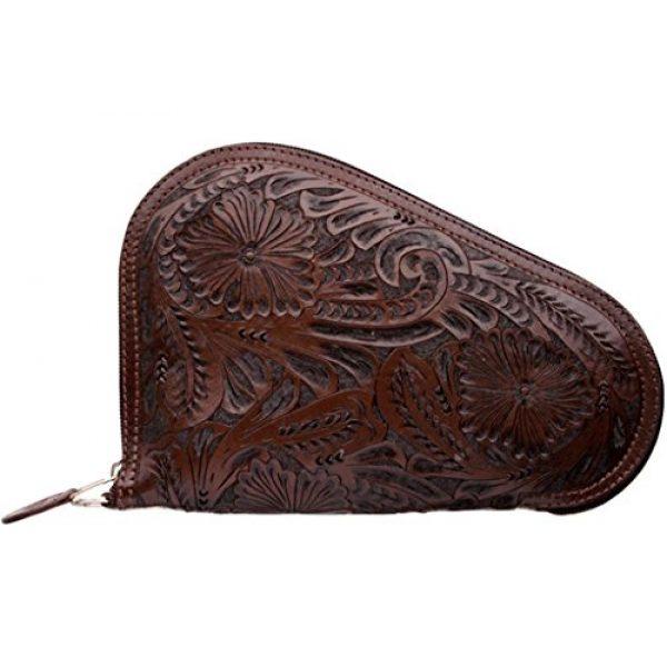 3D Belt Pistol Case 1 3D Western Pistol Case Padded Leather Tooled Floral Zipper DPI11