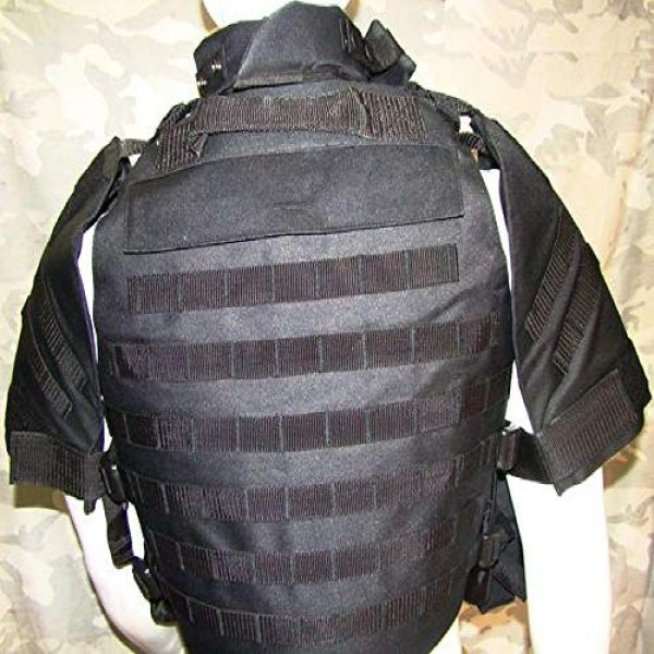 BGJ Airsoft Tactical Vest 4 Outdoors Tactical Paintball Airsoft Military OTV Body Armor Durable Carrier Combat Vest Men Soft Cushion Pads Full Adjustable Wa