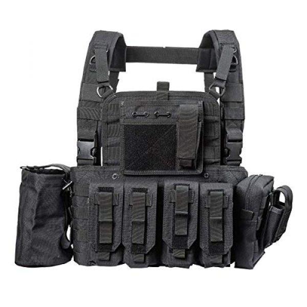 GXYWAN Airsoft Tactical Vest 4 GXYWAN Tactical CS Field Vest Paintball Training Air Gun Super Light Breathable Combat Adjustable Vest