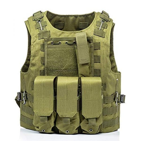 HAOWUTX Airsoft Tactical Vest 1 HAOWUTX Multifunctional Tactical Vest for Outdoor Camping, Hunting, Fishing, Hiking, Airsoft War Game CS (Color : Green)