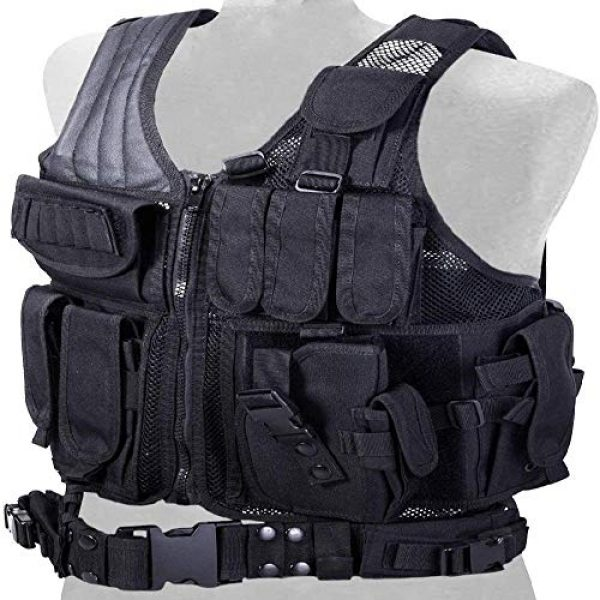 BGJ Airsoft Tactical Vest 4 Tactical Vest Adjustable Molle Swat Army Military Combat Assault Body Armor Hunting Fishing Shooting Airsoft Vest