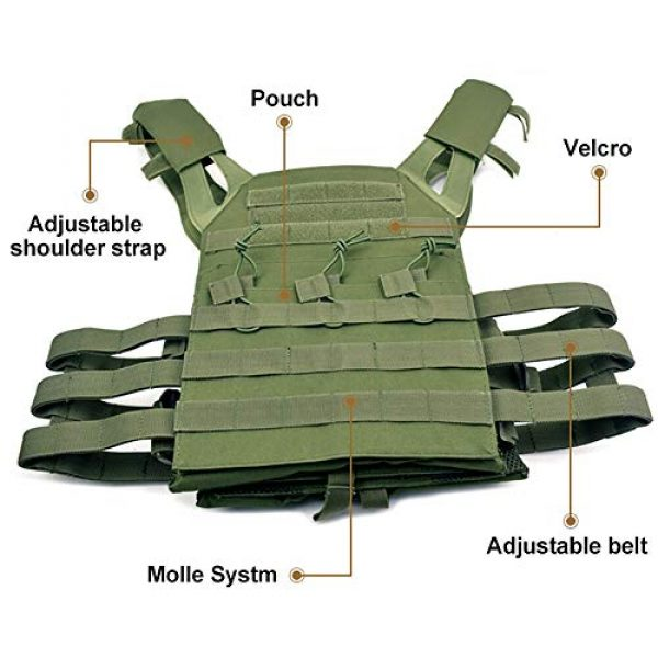 BGJ Airsoft Tactical Vest 6 BGJ Tactical JPC Vest Molle Plate Carrier Military Vest Airsoft Paintball CS Game Hunting Outdoor Protective Equipment