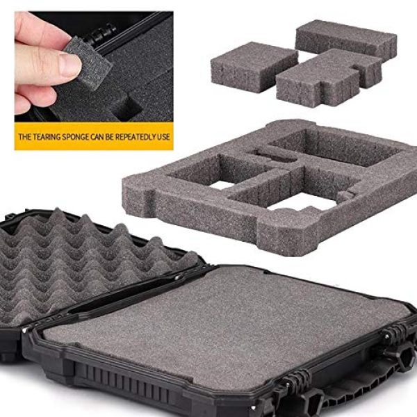 LIVANS Pistol Case 5 LIVANS Tactical Hard Travel Storage Carrying Case, Camera Carrying Cases Lockable Pistol Case Firearms Holder Weatherproof Shockproof Hard Case IP67 Level with Pick and Pluck Foam for Telescope