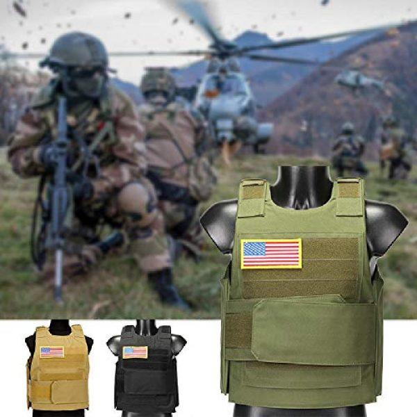 BGJ Airsoft Tactical Vest 5 Hunting Combat CS Vest Black Hawk Green Sports Vest Down Body Armor Plate Tactical Airsoft Carrier Vest CB Camo Woodland Outdoor