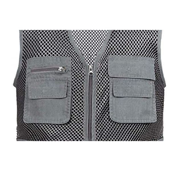 DAFREW Airsoft Tactical Vest 6 DAFREW Mesh Breathable Vest Multi-Function Leisure Fishing Photography Vest Quick-Drying Vest Multi-Pocket Men's Vest (Color : Gray, Size : XL)