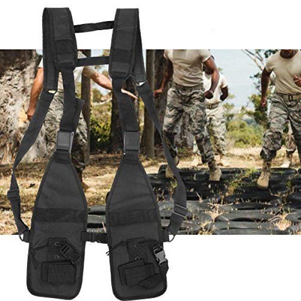Alomejor Airsoft Tactical Vest 6 Alomejor Tactical Training Vest Simple Adjustable Vest Chest Backpack Army Fans Tactical Vest Outdoor Fitness Sports Training Suit for Airsoft Paintball Training