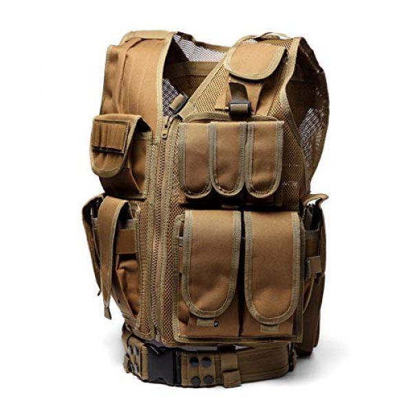 MR.CHAOS Airsoft Tactical Vest 2 MR.CHAOS Tactical Vest Combat Training Vest Adjustable Outdoor Breathable Mesh Fabric CS Combat Equipment
