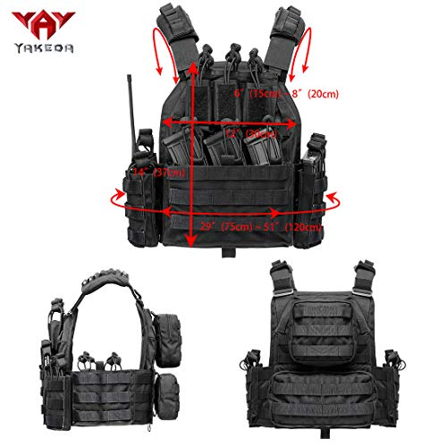 vAv YAKEDA Airsoft Tactical Vest 2 vAv YAKEDA Outdoor Tactical Military Vest Airsoft Vest for Men