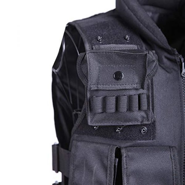 Moontie Airsoft Tactical Vest 2 Moontie Military Tactical Vest, Paintball Camouflage Molle Hunting Vest Assault Shooting Hunting Security Waistcoat