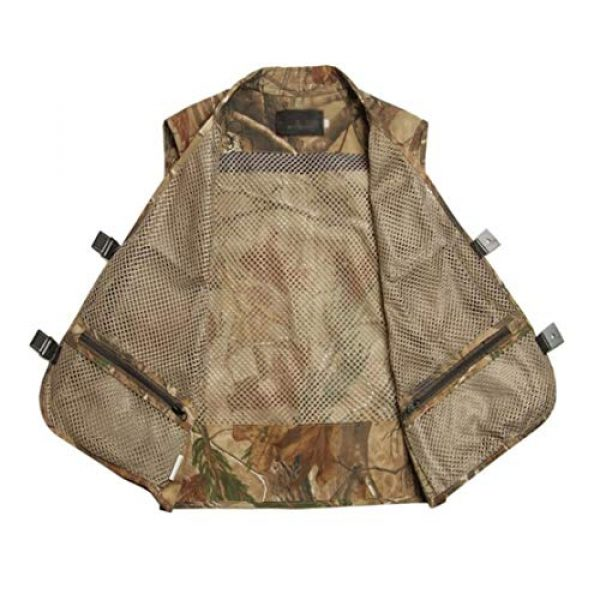 DAFREW Airsoft Tactical Vest 6 DAFREW Men Outdoor Sport Multi-Pocket Mesh Vest Fly Fishing Photography Shooting Travel Quick-Dry Jacket Waistcoat (Color : Shallow Army Green, Size : M)