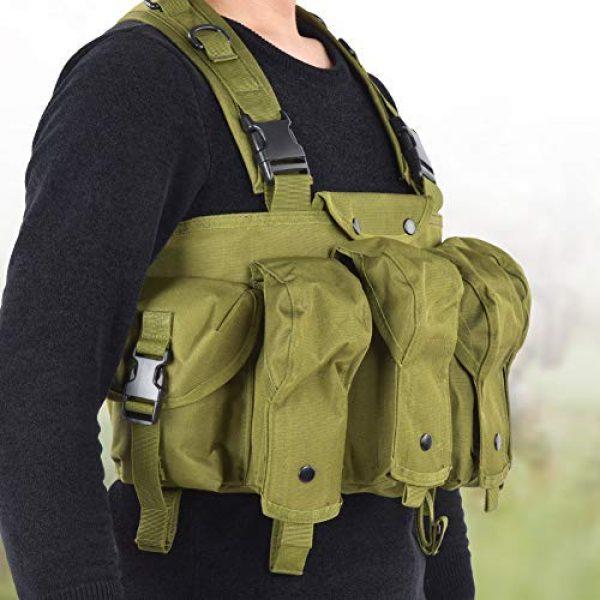 Yosoo Airsoft Tactical Vest 2 Yosoo Tactics Training Bag,Nylon Outdoor Tactics Vest Military Fan Camouflage Waistcoat Training Bag Equipment