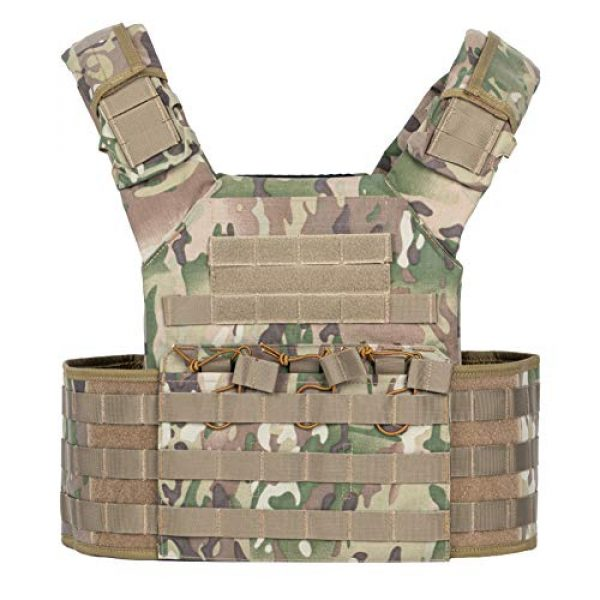 VISMIX Airsoft Tactical Vest 1 VISMIX Tactical Vest Adjustable Molle Military Vest for Men
