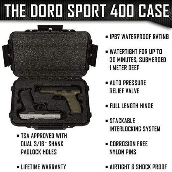 MY CASE BUILDER Pistol Case 3 2 Pistol Medium Duty Lightweight 2 Pistol Gun Sport Case - Double Handgun TSA Approved Storage - Doro Case with Military Grade Foam Insert