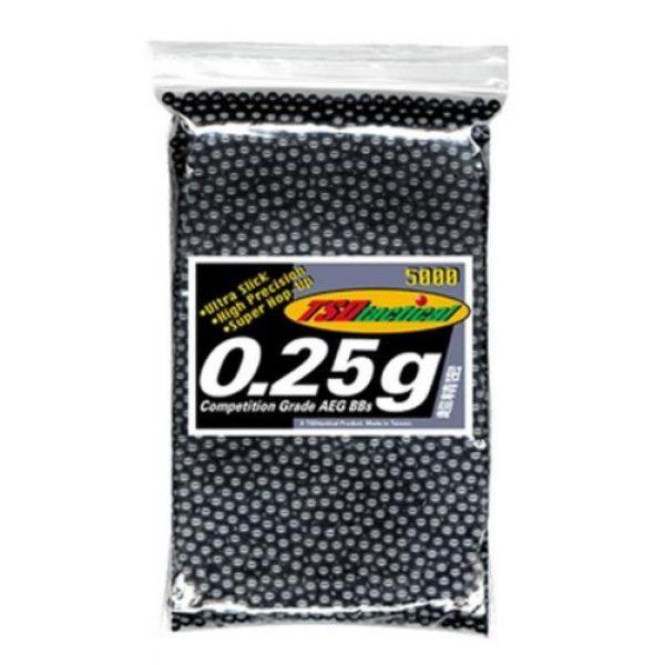 TSD Airsoft BB 1 TSD Tactical 5,000 ct. Bag Plastic Black Airsoft BBS (6mm, 0.25g)