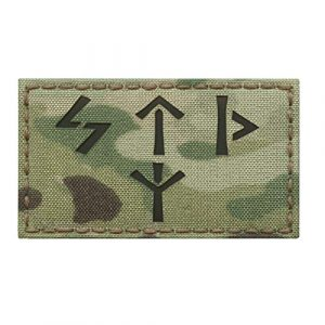 Tactical Freaky Airsoft Morale Patch 1 IR Multicam Russian Spetsnaz Norse Runes 2x3.5 FSB Alpha Group Russia Special Forces IFF Infrared Tactical Morale Touch Fastener Patch