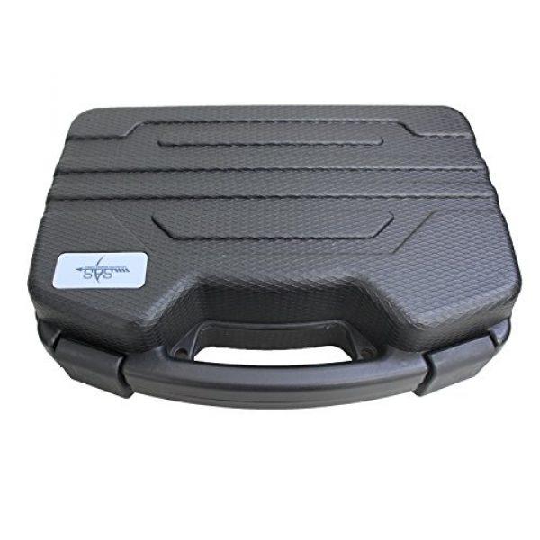 SAS Pistol Case 4 SAS Pistol Lockable Heavy Duty Hard Case Pluck Foam with Locking Holes for Archery Accessories or Handgun