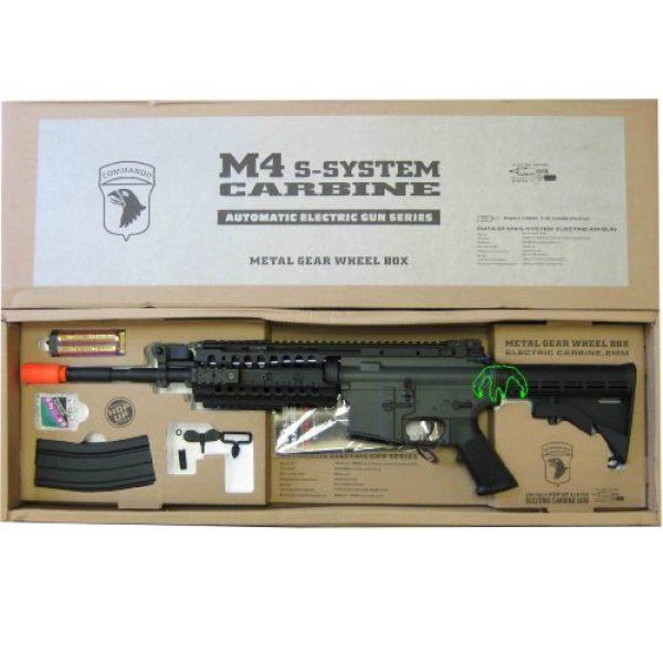 Jing Gong (JG) Airsoft Rifle 2 JG 2010 Version 432 FPS M4 S-System Metal Gear Electric Airsoft AEG