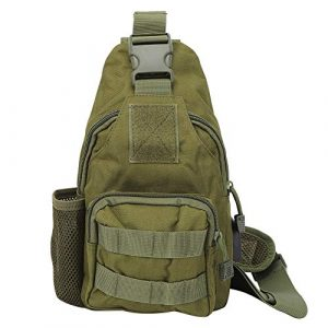 Yosoo Tactical Backpack 1 Yosoo Outdoor Tactics Bag,Outdoor Tactics Oxford Cloth Shoulder Chest Bag Messenger with Water Bottle Cover