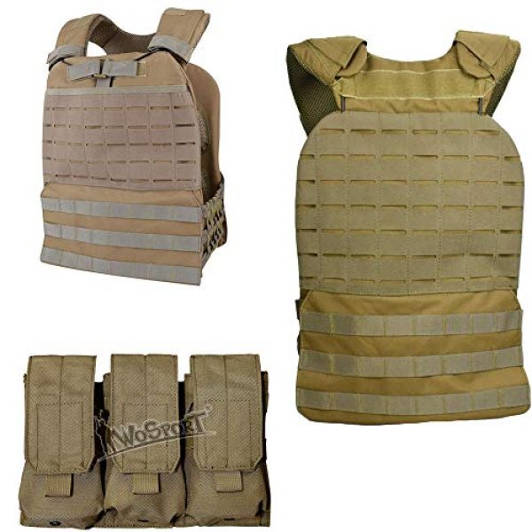 JFFCE Airsoft Tactical Vest 2 JFFCE Tactical Vest Fully Adjustable for Shooting Hunting Outdoor Activities