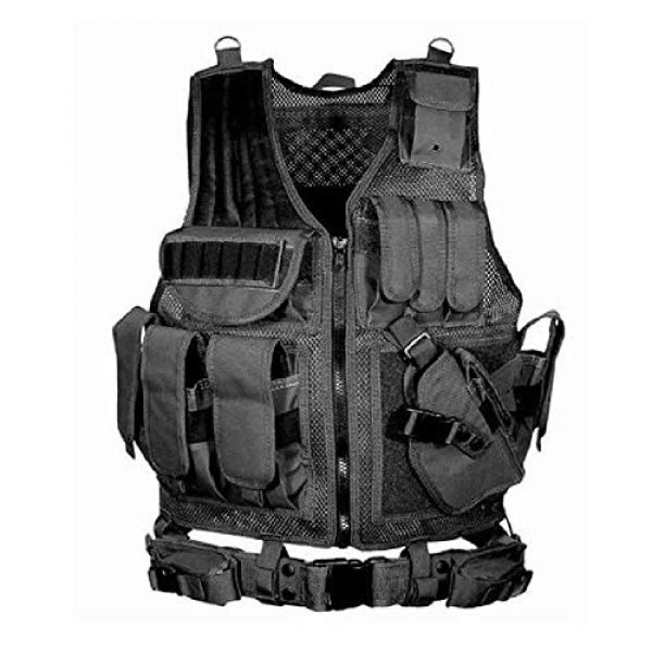 BGJ Airsoft Tactical Vest 1 BGJ Tactical Vest Military Combat Army Armor Vests Molle Airsoft Plate Carrier Swat Vest Outdoor Hunting Fishing CS Training Vest