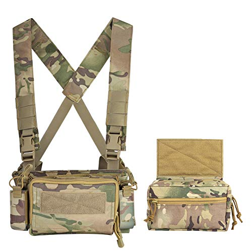 DETECH Airsoft Tactical Vest 4 DETECH Tactical Vest Army Chest Rig Carrier Armor X Harness Rifle Pistol Magazine Pouch CRX Hunting Equipment Accessories