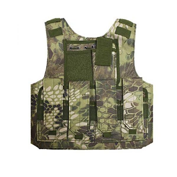 BGJ Airsoft Tactical Vest 5 Outdoor Airsoft Tactical Kids Children Vest Uniform Army Military Equipment Kids Boy Girl Camouflage Combat CS Hunting Clothes