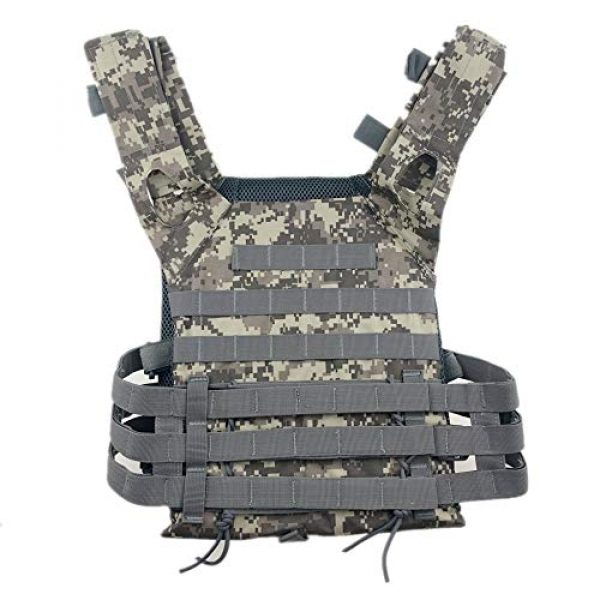 BGJ Airsoft Tactical Vest 2 BGJ Men Hunting Tactical Vest Military Molle Plate Carrier Magazine Airsoft Paintball CS Outdoor Protective Lightweight Vest