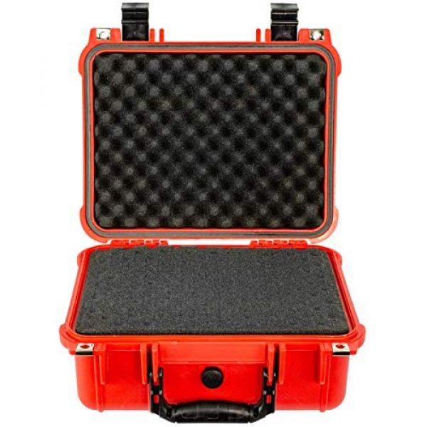 Eylar Pistol Case 2 Eylar Tactical Hard Gun Case Water & Shock Proof with Foam 13.37 inch 11.62 inch 6 inch Red