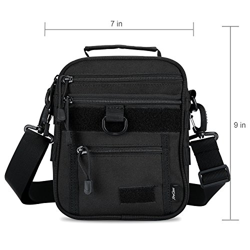 ProCase Pistol Case 2 ProCase Pistol Bag, Military Gear Tactical Handgun Shoulder Strap Bag Gun Ammo Accessories Pouch Shooting Range Duffle Bag for Shooting Range Sport - Black