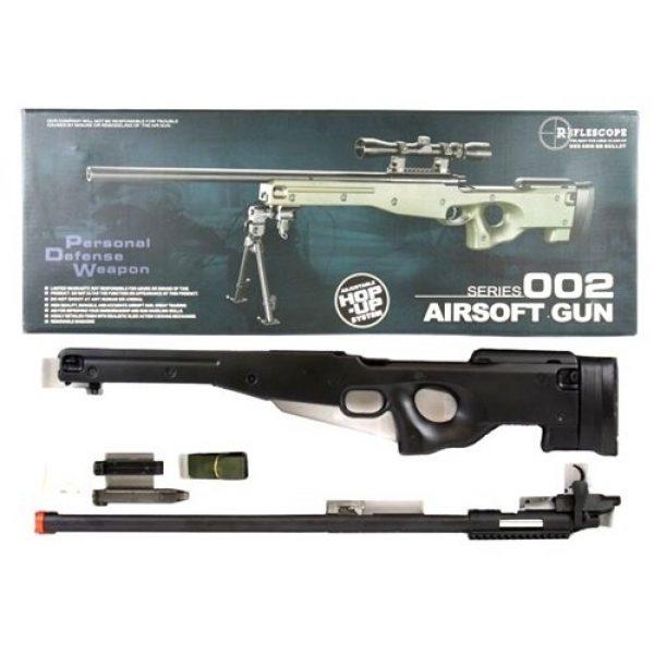 AGM Airsoft Rifle 7 Airsoft AGM Metal Bolt Action L96 AWP Sniper Rifle Black