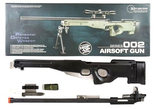 AGM  7 Airsoft AGM Metal Bolt Action L96 AWP Sniper Rifle Black