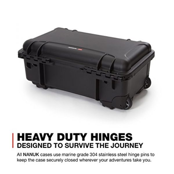 Nanuk Pistol Case 7 Nanuk 935 Waterproof Professional Gun Case with Foam Insert for 6UP w/Wheels