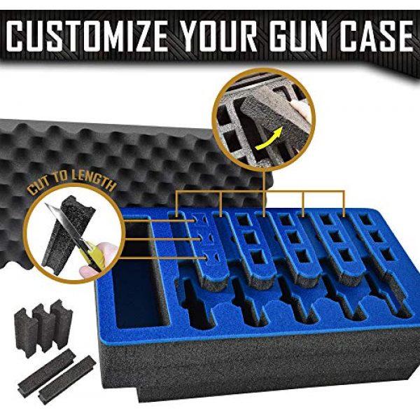 MY CASE BUILDER Pistol Case 3 Pistol & Magazine Storage Foam Insert for Apache 5800 Case -2 Piece Set Pre-Cut Military Grade Polyethylene Foam Base Insert and Lid Liner (Case Not Included)