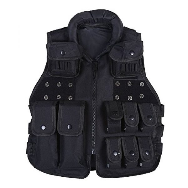 Yosoo Airsoft Tactical Vest 1 Yosoo Kids Tactical Vest, 600D Nylon Children Tactical Molle Vest Protective Jacket Vest Outdoor Military Army Combat Trainning Games Vest for Hunting Shooting Play