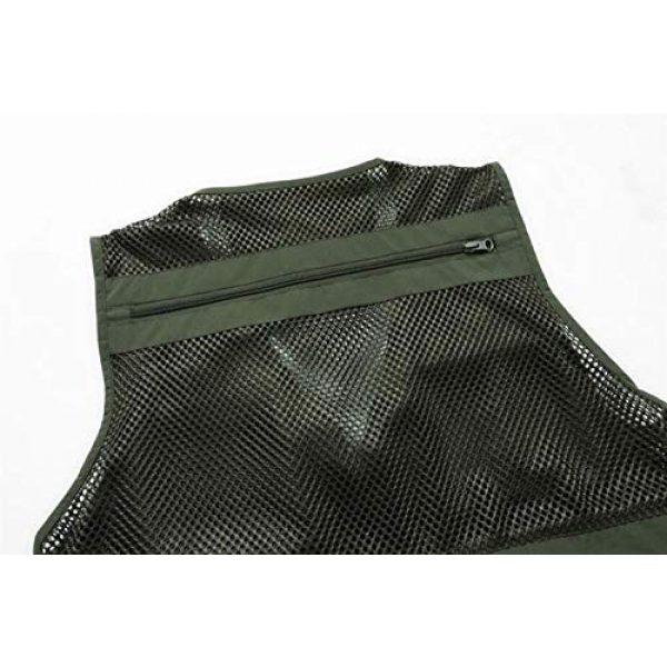 DAFREW Airsoft Tactical Vest 7 DAFREW Men's Vest Summer Fashion Breathable Sleeveless Shirt Quick-Drying Jacket Outdoor Leisure Multi-Function Vest (Color : Black, Size : XL)