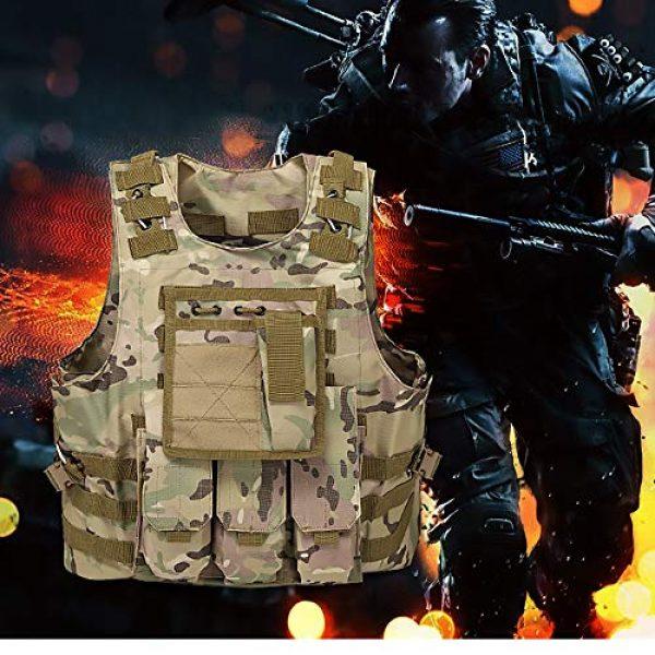 WEQ Airsoft Tactical Vest 5 WEQ Tactical Vest Outdoor Amphibious Vest Ultra-Light Breathable Combat Training Vest Adjustable for Adults(Standard Size) (Color : #G)
