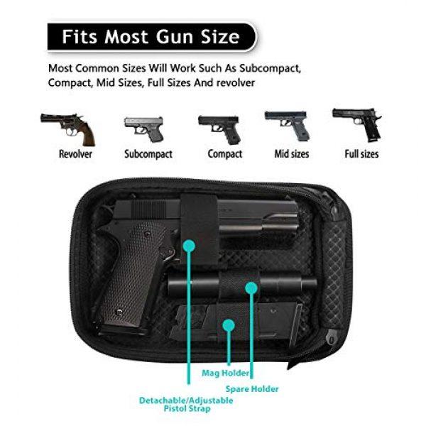 Lilcreek Pistol Case 2 Lilcreek Gun Cases for Pistols, Concealed Carry Gun Pouch Handgun Shoulder Bag, Fanny Pack Waist Pocket for Handgun with Belt Loops
