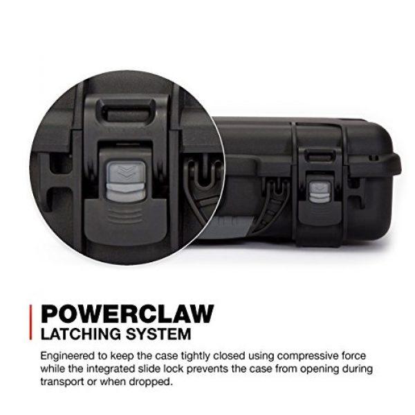 Nanuk Pistol Case 4 Nanuk 910 2UP Waterproof Hard Case w/Custom Foam Insert for Glock Pistols - Black