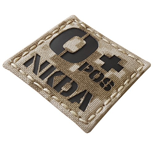 Tactical Freaky Airsoft Morale Patch 6 Digital Desert AOR1 Infrared IR OPOS NKDA O+ Blood Type 2x2 Tactical Morale Hook-and-Loop Patch