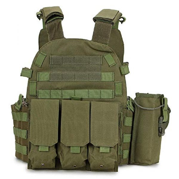 BGJ Airsoft Tactical Vest 2 Outdoor Airsoft Gear 6094 Tactical Molle Vest Paintball CS Games Protection Body Armor Military Shooting Combat Training Vest