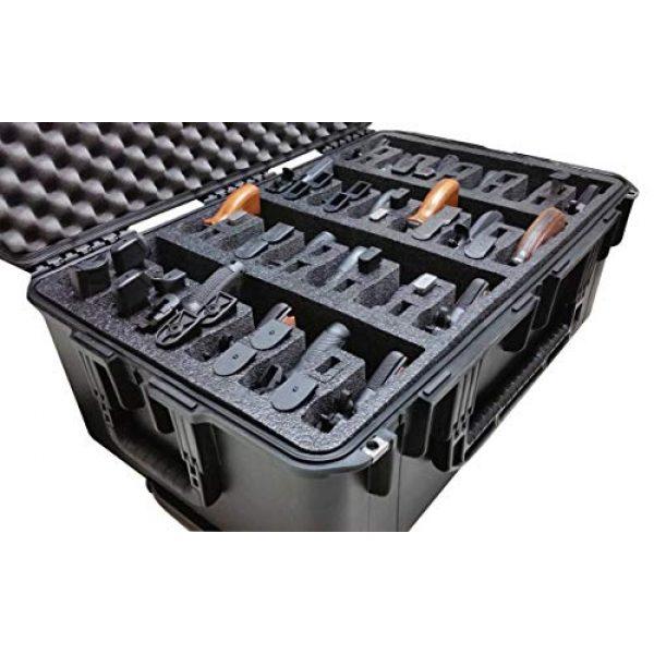 Case Club Pistol Case 4 Case Club 24 Pistol Pre-Cut Waterproof Case with x2 Silica Gel to Help Prevent Gun Rust