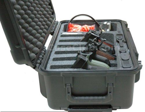 Case Club Pistol Case 4 Case Club Waterproof 6 Pistol Case with Accessory Pocket & Silica Gel