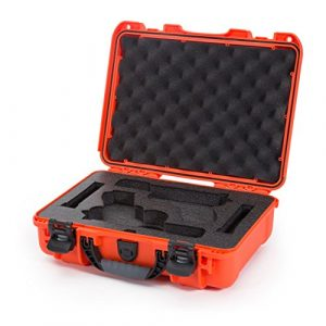 Nanuk Pistol Case 1 Nanuk 910 2UP Waterproof Hard Case w/Custom Foam Insert for Glock Pistols - Orange